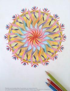 マンダラ塗り絵-1