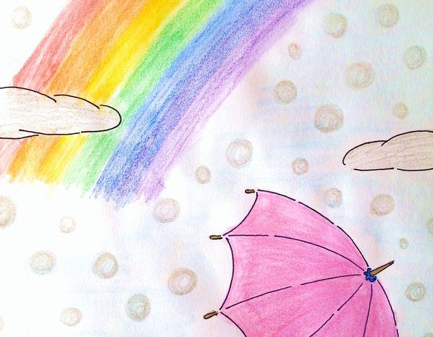 虹色のイメージは、夢・希望・幸運・万感の思い。心の転換期。色彩心理のはなし